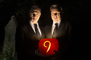 Inside No. 9. Image shows from L to R: Rev. Neil (Reece Shearsmith), Arthur Flitwick (Steve Pemberton). Copyright: BBC.