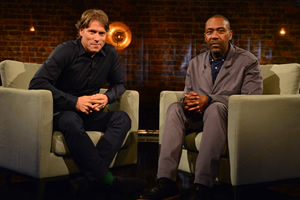 John Bishop In Conversation With.... Image shows from L to R: John Bishop, Lenny Henry. Copyright: Lola Entertainment.