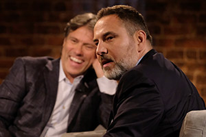 John Bishop In Conversation With.... Image shows from L to R: John Bishop, David Walliams. Copyright: Lola Entertainment.