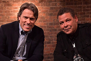 John Bishop In Conversation With.... Image shows from L to R: John Bishop, Craig Charles. Copyright: Lola Entertainment.