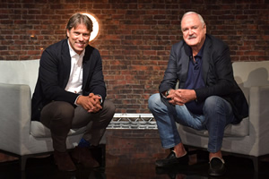 John Bishop In Conversation With.... Image shows from L to R: John Bishop, John Cleese. Copyright: Lola Entertainment.