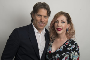 John Bishop In Conversation With.... Image shows from L to R: John Bishop, Katherine Ryan. Copyright: Lola Entertainment.