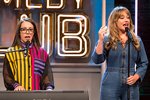 Jonathan Ross' Comedy Club. Image shows from L to R: Nicola Dempsey, Rosie Dempsey. Copyright: Hot Sauce.