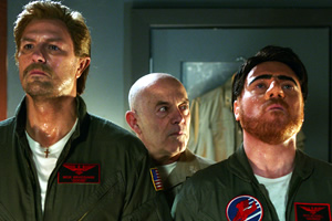 The Keith & Paddy Picture Show. Image shows from L to R: Goose (Paddy McGuinness), Stinger (Keith Allen), Maverick (Leigh Francis). Copyright: Talkback.