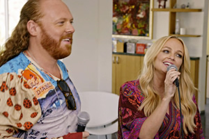 Keith Lemon: Coming In America. Image shows from L to R: Leigh Francis, Emma Bunton. Copyright: Talkback.