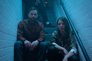 Ladhood. Image shows from L to R: Liam (Liam Williams), Penelope (Celeste Dring).