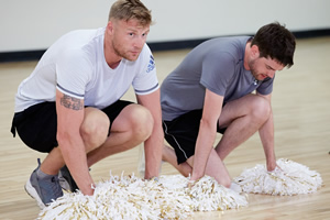 A League Of Their Own. Image shows from L to R: Andrew Flintoff, Jack Whitehall. Copyright: CPL Productions.