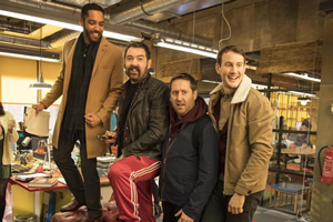 Loaded. Image shows from L to R: Leon (Samuel Anderson), Watto (Nick Helm), Josh (Jim Howick), Ewan (Jonny Sweet).