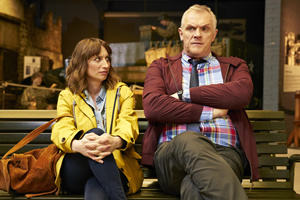 Man Down. Image shows from L to R: Ally Clarke (Isy Suttie), Dan (Greg Davies). Copyright: Avalon Television.