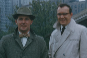 Morecambe & Wise In America. Image shows from L to R: Ernie Wise, Eric Morecambe.