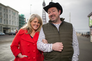 Mount Pleasant. Image shows from L to R: Lisa Johnson (Sally Lindsay), Dan Johnson (Daniel Ryan). Copyright: Tiger Aspect Productions.