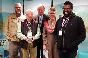 The Museum Of Curiosity. Image shows from L to R: Phill Jupitus, Roger Graef, John Lloyd, Prue Leith, Romesh Ranganathan. Copyright: BBC.