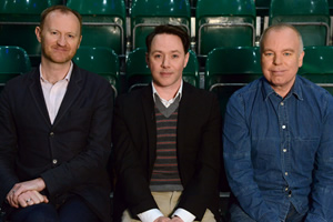 Our Friend Victoria. Image shows from L to R: Mark Gatiss, Reece Shearsmith, Steve Pemberton. Copyright: Phil McIntyre Entertainment.