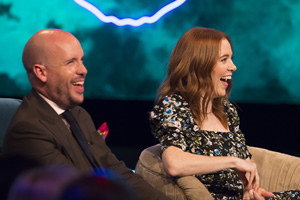 The Ranganation. Image shows from L to R: Tom Allen, Angela Scanlon. Copyright: Zeppotron.