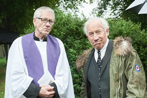 The Rebel. Image shows from L to R: Vicar (Michael Bertenshaw), Henry Palmer (Simon Callow). Copyright: Retort.
