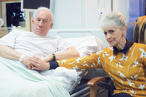 The Rebel. Image shows from L to R: Henry Palmer (Simon Callow), Margaret (Anita Dobson). Copyright: Retort.