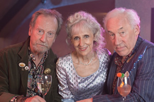 The Rebel. Image shows from L to R: Charles (Bill Paterson), Margaret (Anita Dobson), Henry Palmer (Simon Callow). Copyright: Retort.