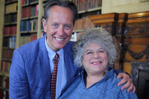 Richard E. Grant On... Ealing Comedies. Image shows from L to R: Richard E. Grant, Miriam Margolyes. Copyright: Phil McIntyre Entertainment.