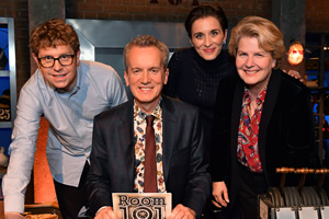 Room 101. Image shows from L to R: Josh Widdicombe, Frank Skinner, Vicky McClure, Sandi Toksvig. Copyright: Hat Trick Productions.