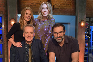 Room 101. Image shows from L to R: Geri Halliwell, Frank Skinner, Katherine Ryan, Adam Buxton. Copyright: Hat Trick Productions.
