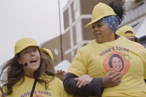 Rosie Tries To Help. Image shows from L to R: Rosie Jones, Desiree Burch. Copyright: Comedy Central.