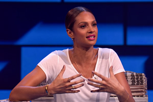 The Russell Howard Hour. Alesha Dixon. Copyright: Avalon Television.