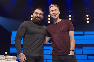 The Russell Howard Hour. Image shows from L to R: Ant Middleton, Russell Howard. Copyright: Avalon Television.