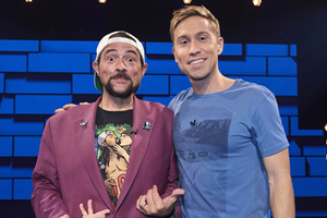 The Russell Howard Hour. Image shows from L to R: Kevin Smith, Russell Howard. Copyright: Avalon Television.