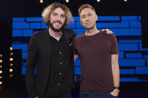 The Russell Howard Hour. Image shows from L to R: Seann Walsh, Russell Howard. Copyright: Avalon Television.
