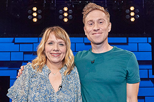 The Russell Howard Hour. Image shows from L to R: Kerry Godliman, Russell Howard. Copyright: Avalon Television.
