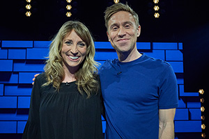 The Russell Howard Hour. Image shows from L to R: Daisy Haggard, Russell Howard. Copyright: Avalon Television.