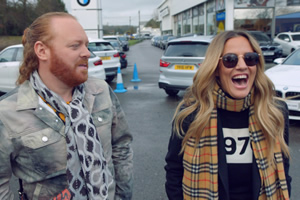 Shopping With Keith Lemon. Image shows from L to R: Leigh Francis, Caroline Flack.
