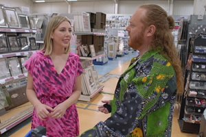 Shopping With Keith Lemon. Image shows from L to R: Katherine Ryan, Leigh Francis.