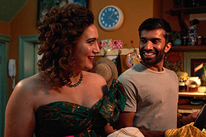 Starstruck. Image shows from L to R: Rose (Rose Matafeo), Tom (Nikesh Patel). Copyright: Avalon Television.