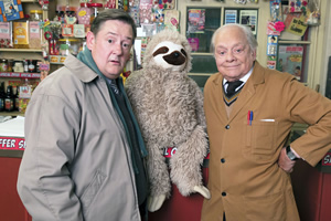 Still Open All Hours. Image shows from L to R: Wet Eric (Johnny Vegas), Granville (David Jason).