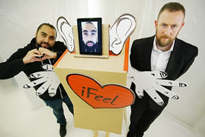 Taskmaster. Image shows from L to R: Asim Chaudhry, Alex Horne. Copyright: Avalon Television.