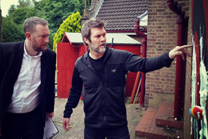 Taskmaster. Image shows from L to R: Alex Horne, Rhod Gilbert. Copyright: Avalon Television.