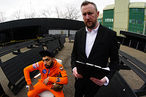 Taskmaster. Image shows from L to R: Mawaan Rizwan, Alex Horne. Copyright: Avalon Television.