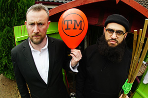 Taskmaster. Image shows from L to R: Alex Horne, Jamali Maddix. Copyright: Avalon Television.