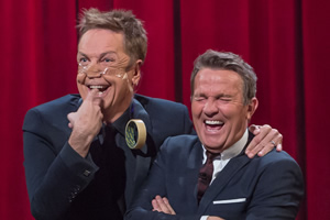 Tonight At The London Palladium. Image shows from L to R: Brian Conley, Bradley Walsh. Copyright: ITV Studios.