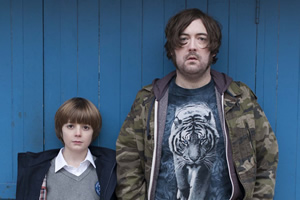 Uncle. Image shows from L to R: Errol (Elliot Speller-Gillott), Andy (Nick Helm). Copyright: Baby Cow Productions.