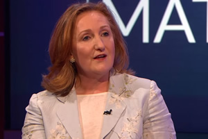 Unspun With Matt Forde. Suzanne Evans. Copyright: Avalon Television.