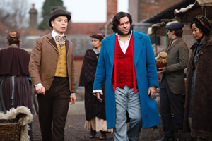 Year Of The Rabbit. Image shows from L to R: Wilbur Strauss (Freddie Fox), Detective Inspector Rabbit (Matt Berry). Copyright: Objective Productions.