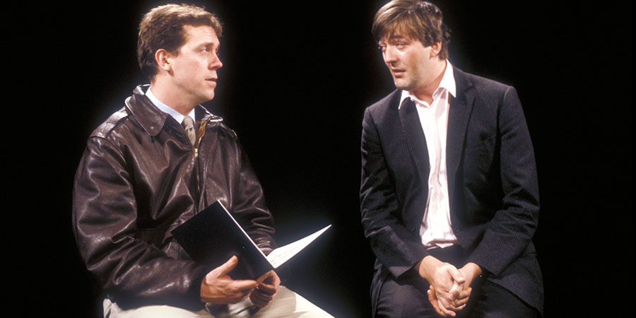 A Bit Of Fry & Laurie. Image shows from L to R: Hugh Laurie, Stephen Fry. Copyright: BBC.