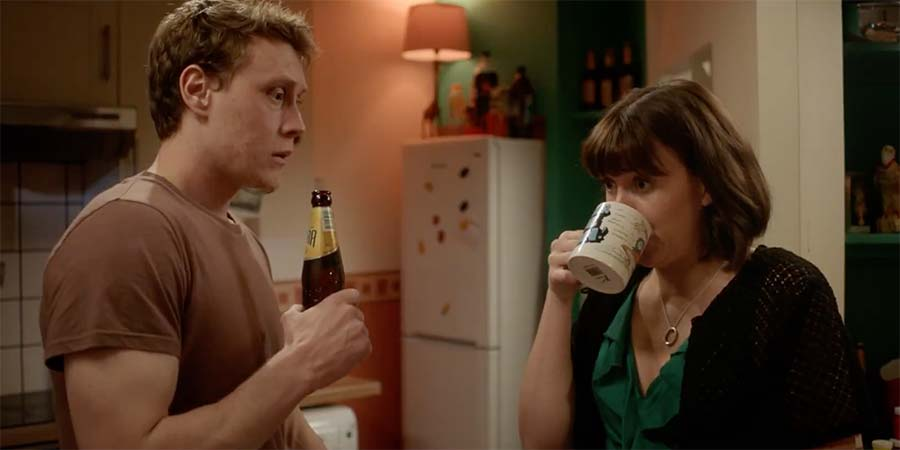 A Guide To Second Date Sex. Image shows from L to R: Ryan (George MacKay), Laura (Alexandra Roach).