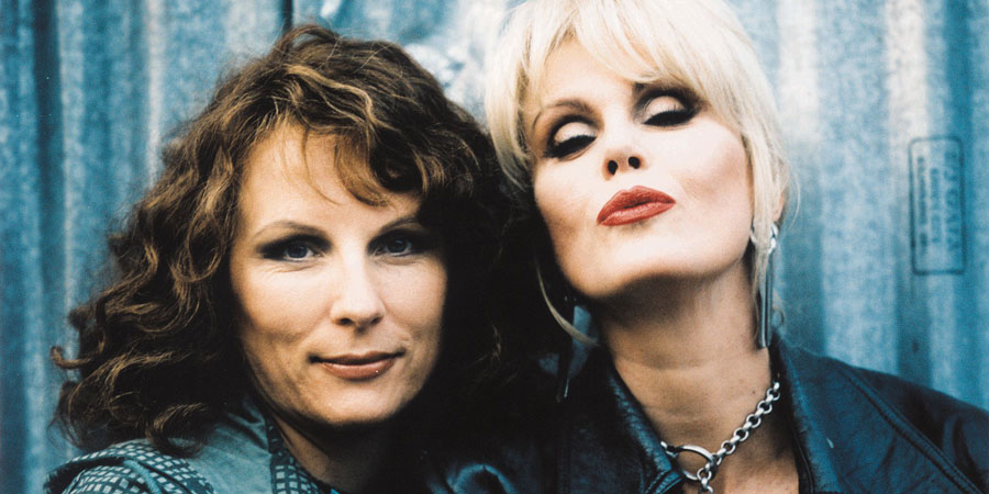 Absolutely Fabulous. Image shows from L to R: Edina (Jennifer Saunders), Patsy (Joanna Lumley). Copyright: Saunders And French Productions / BBC.