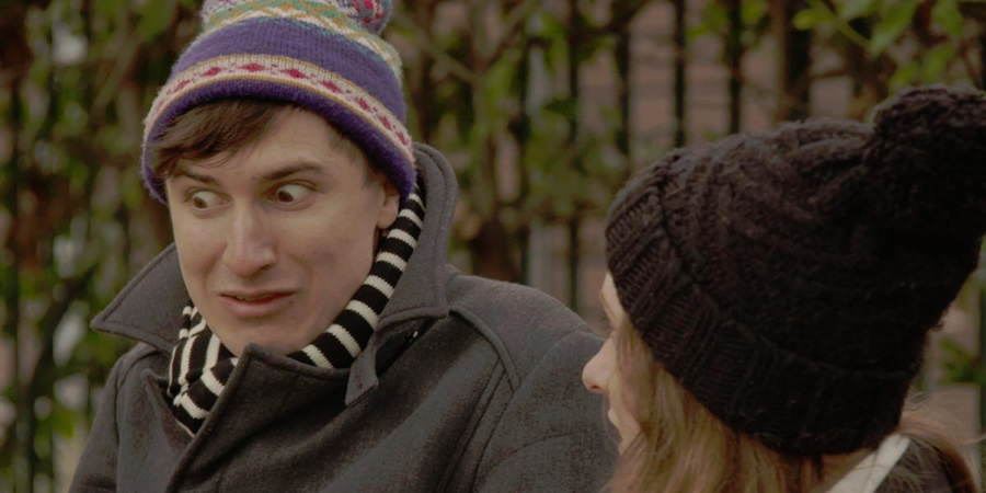 Absolutely Fine. Image shows from L to R: Tom (Tom Rosenthal), Celeste (Celeste Dring). Copyright: Comedy Central.