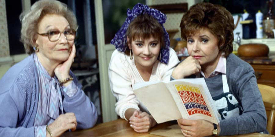 After Henry. Image shows from L to R: Eleanor Prescott (Joan Sanderson), Clare France (Janine Wood), Sarah France (Prunella Scales). Copyright: Thames Television.