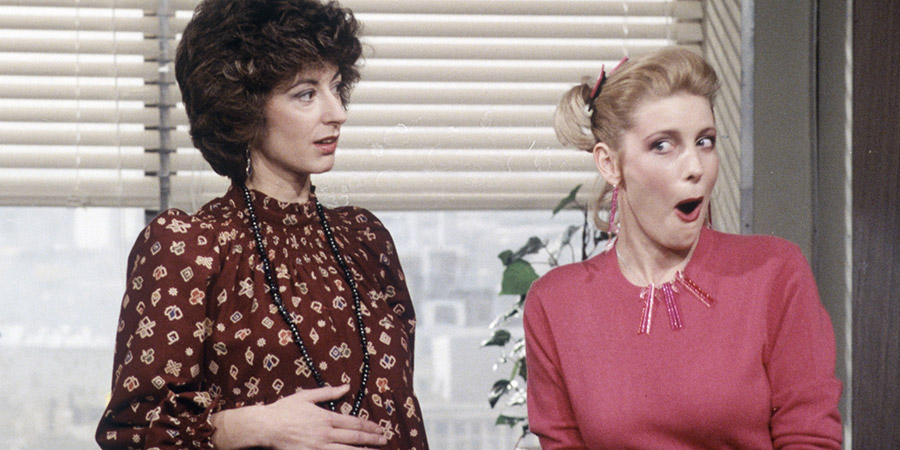 Agony. Image shows from L to R: Jane Lucas (Maureen Lipman), Val (Diana Weston). Copyright: London Weekend Television.