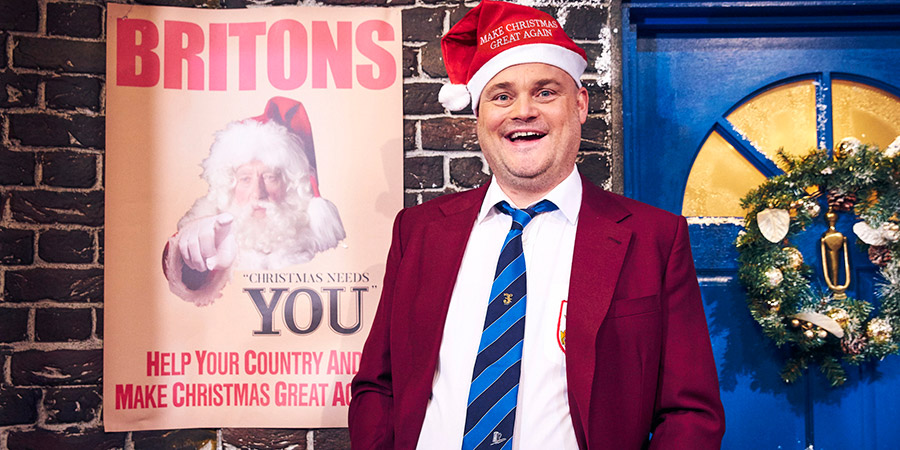 Al Murray's Make Christmas Great Again. Al Murray. Copyright: Avalon Television.